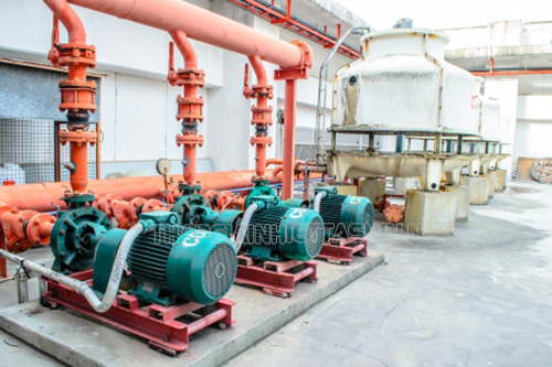 Máy bơm tháp giải nhiệt là linh kiện đóng vai trò quan trọng đối với hiệu quả làm việc của thiết bị
