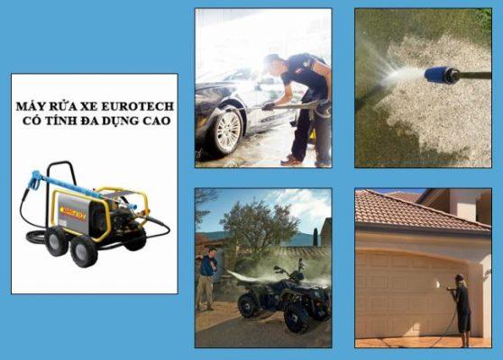 Máy rửa xe Eurotech có nhiều ứng dụng thiết thực