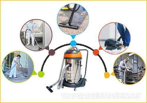 Máy hút bụi công nghiệp được ứng dụng rộng rãi ở nhiều nơi