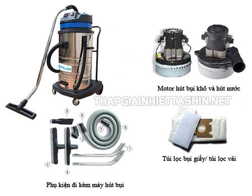 Linh kiện máy hút bụi hút nước đóng vai trò quan trọng trong quá trình vận hành của thiết bị